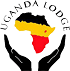 Draw logo of africa with Uganda Colors saying Uganda Lodge.